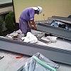 ガルバニウム鋼板取付状況の画像