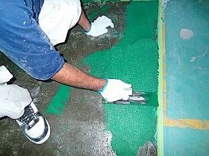 珪砂入り塗床1回目